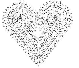 Маленькое ажурное сердечко, схема