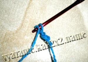 Вязание крючком для начинающих, воздушная петля