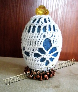 Ажурные узоры на пасхальном яйце