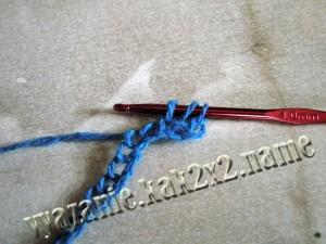 уроки крючком: полустолбик с накидом