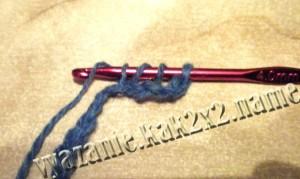 уроки крючком: столбик с накидом