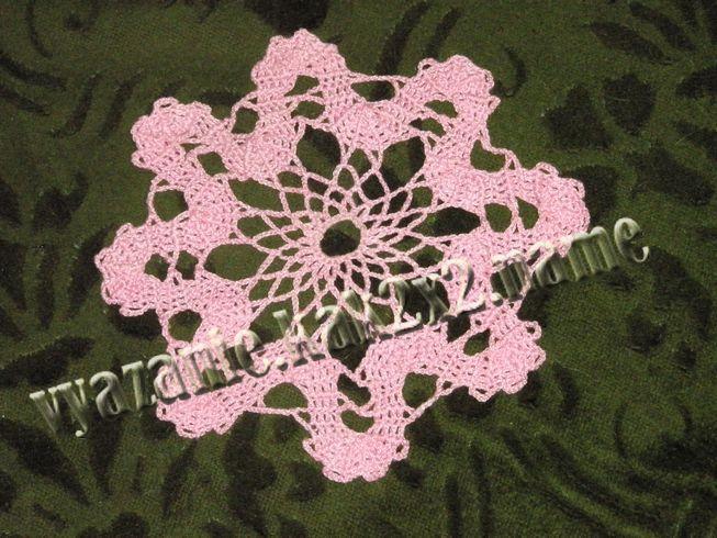 Красивая розовая салфеточка
