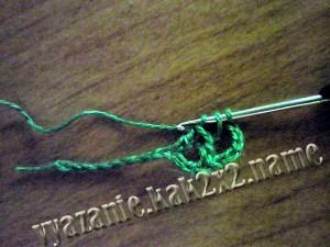 крестообразный столбик, уроки крючком