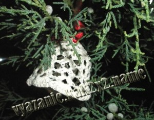 Колокольчик крючком на Рождество