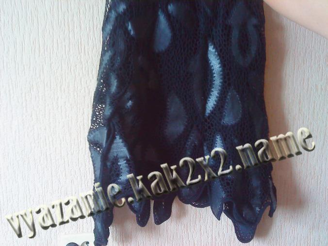 Длинная юбка с кожаными элементами