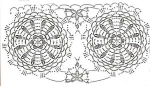Ажурная летняя юбка крючком, схема