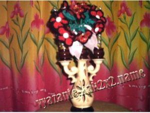 Букетик цветов, связанный крючком