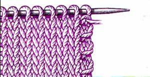 Как сделать боковой край спицами