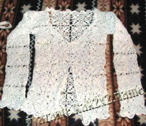 блуза крючком ажурная